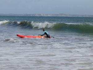 Le surf en mer à Plouzané